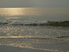 Sparkling sea in sunrise; Hunting Island, SC