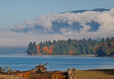 English Bay in the fall