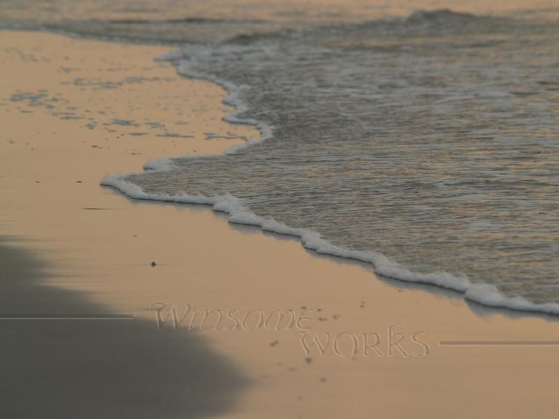 Edge of sea, sunrise  - Hunting Island S.P., SC