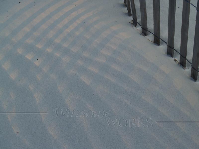 Sand & light patterns - Hunting Island S.P., SC