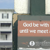 "Sign seen when leaving the beach in Ocean Grove, NJ (""God's square mile at the Jersey Shore"")"