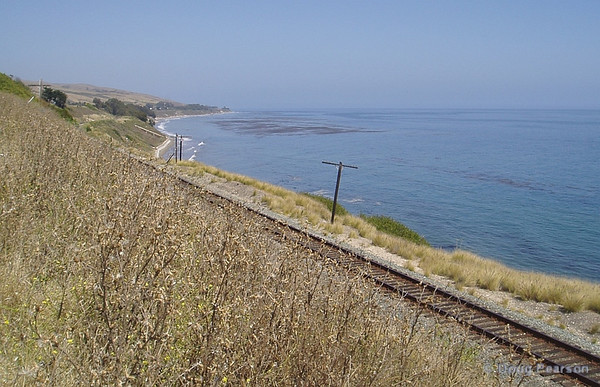 Tracks along the coast