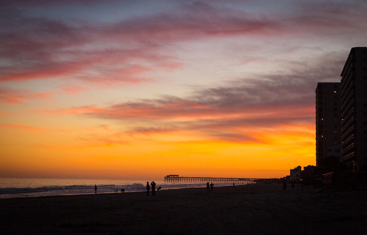 Walking after Sunset