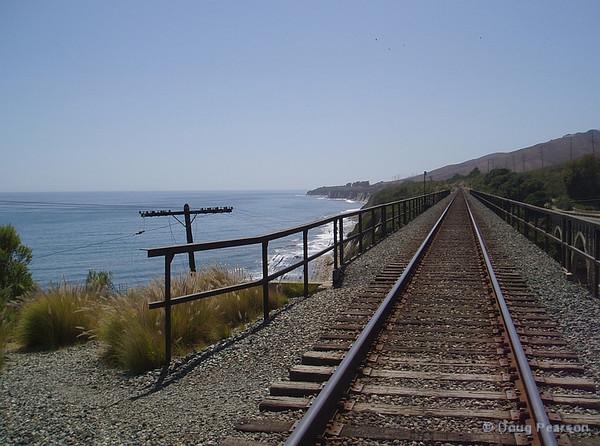 Tracks along the coast