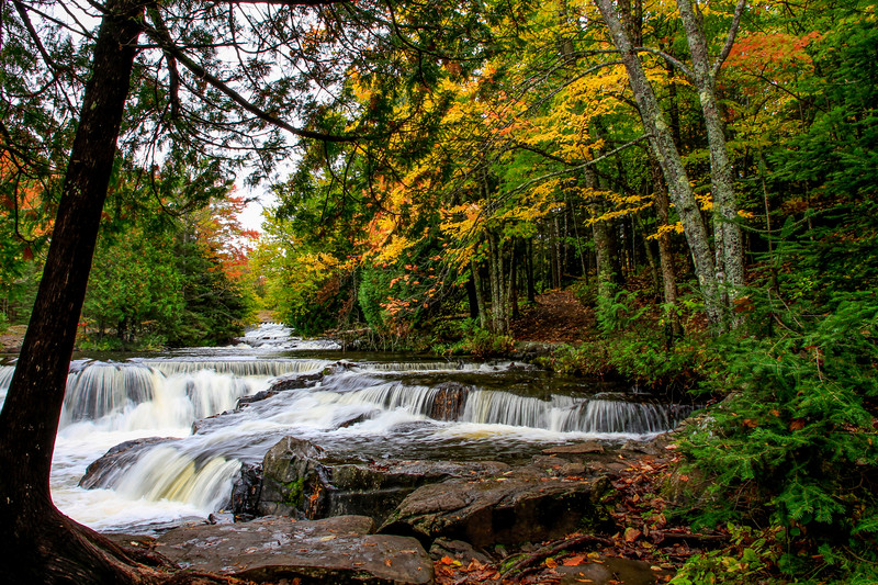 Autumn Arrives at Bond Falls
