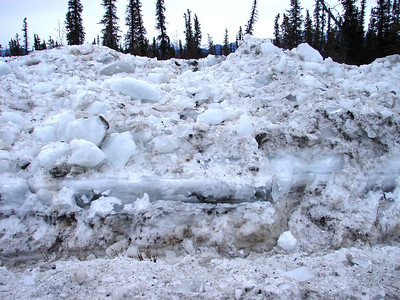3/20/07 - This was taken out of the window of my one-ton van, and the pile of ice was as high as my head!