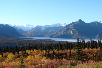 9/13/06 - A dense fog bank fills the valley of the south fork of the Matanuska River near MP116 of the Glenn Hwy.