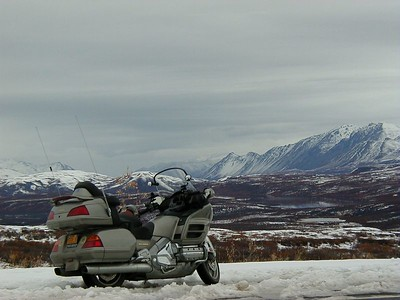 Late September on the Denali Hwy., looking north into Isabel Pass.