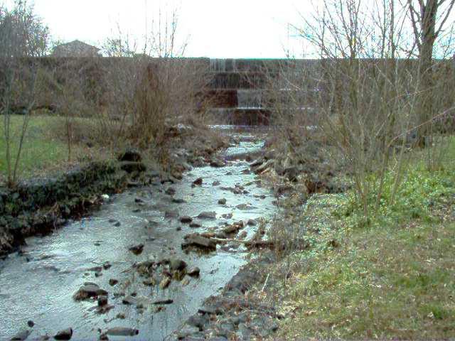 Waterfall and stream. The dam creates my favorite lake.