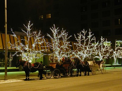 One of the winter street scenes in Anchorage.