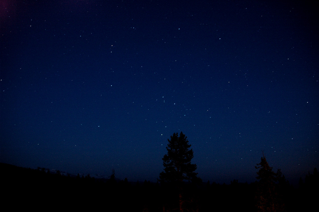 From the deck of the lodge. This is a 30-second exposure. It was a new moon that night.