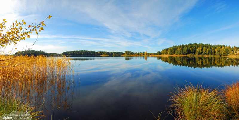 Autumn lake in Sweden
