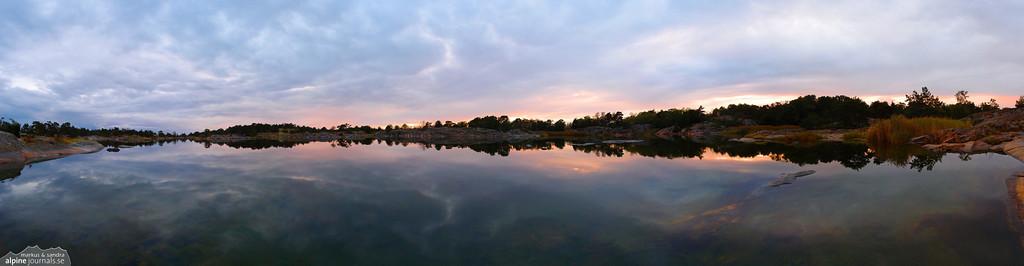 Dusk in the Stockholm archipelago