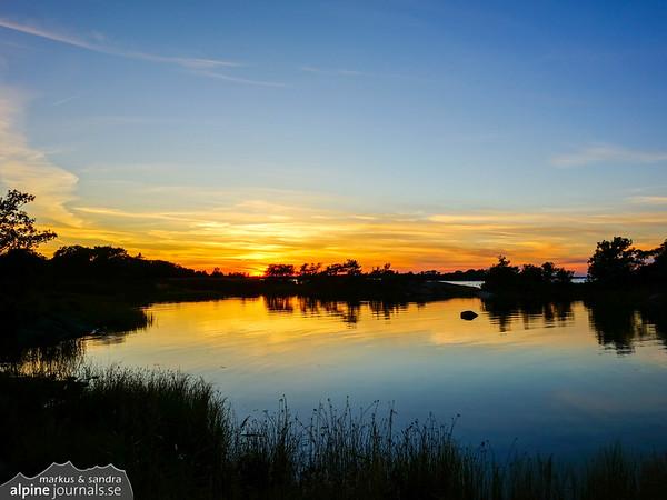 Sunset in the Vidinge nature reserve.