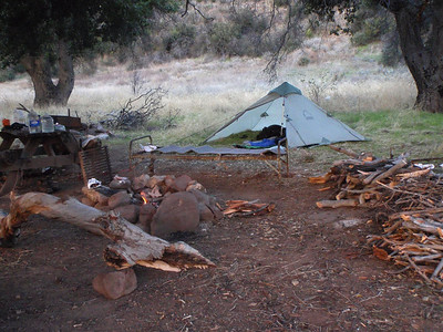 A look at Ant Camp. David Stillmans tent in the back ground.