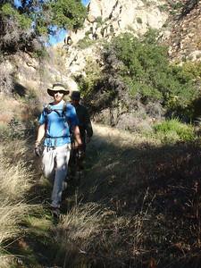 Eric and I as we hike down creek on the Agua Blanca.