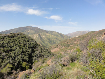 A view from up top looking towards the Sespe. The mountain is Topa Topa towards the left.