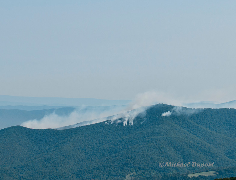 Fire on Massanutten Mountain.
