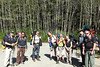 All packed and ready to hit the trail<br /> That's the whole group: Carl, Harry, me, Julie, Johan, Annie, Bill, Lee