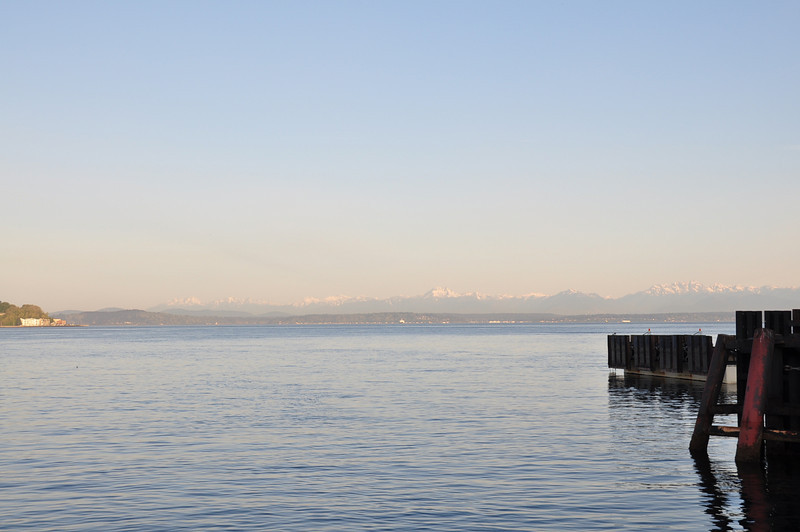 While waiting for the ferry, we were enjoying the views from the terminal and basking in the early morning sunshine.