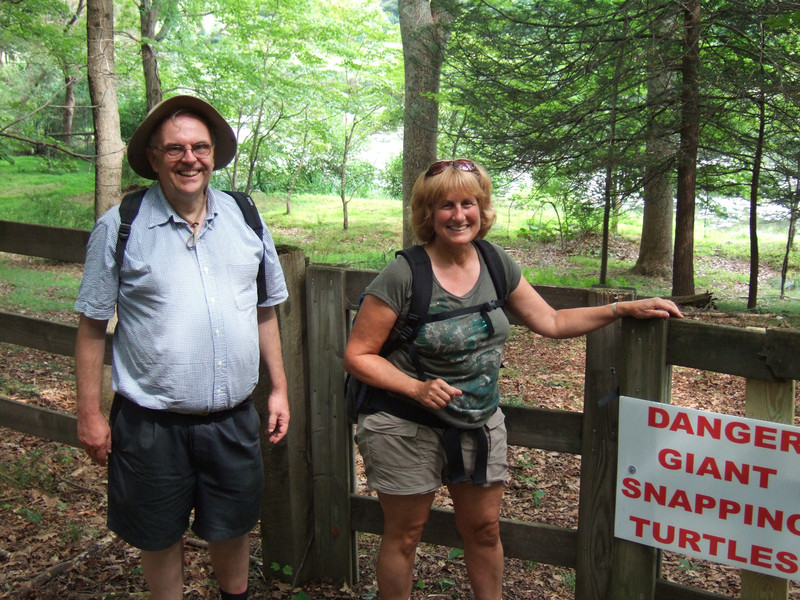 After the workshop, Bill, Don and Joyce went for a beautiful 5 mile hike through a wild part of Ward Pound Ridge Reservation...at one point it skirts some private properties whose owners are wary of curious hikers...