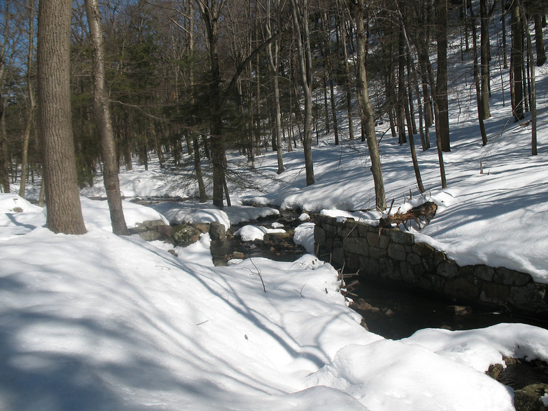 Photo Courtesy of Kevin Rolwing - Old Gravel Sorting Sluice at outlet to Island Pond on Appalachian Trail