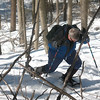 Photo Courtesy of Kevin Rolwing - Jim struggling with branches & traps