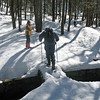 Photo Courtesy of Kevin Rolwing - Steve & Dana Crossing Outlet from Island Pond