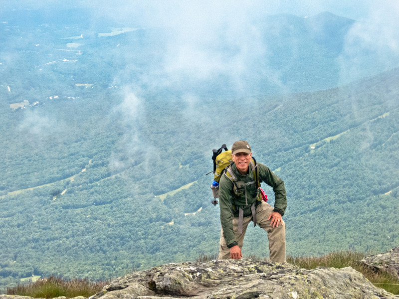Andy Moss on Summit of Mt Mansfield