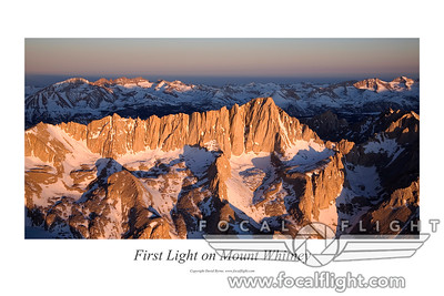 First Light on Mt. Whitney Poster, May 2009