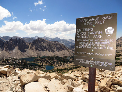 Kearsarge Lakes: Aug 7-11, 2013