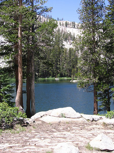 Ranger Lake at about 9200 feet, about 1000 vertical feet below Silliman Pass.