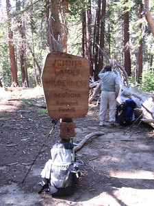 We ascended the trail that heads towards Rowell Meadow, crossing out of King Canyon National Park and into the Jennie Lakes Wilderness.