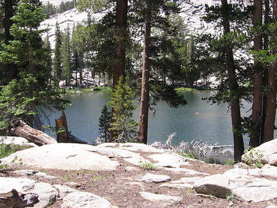 Another view of Ranger Lake, taken as I reclined on a rock in the shade while eating lunch. Saw no other people here.