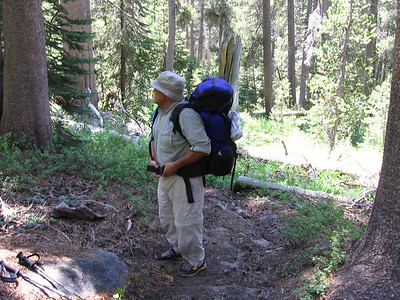 Back on-trail, and time for another break. Location is just to the northeast of Lost Lake.