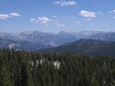 Looking east and north across the main canyon of the Kings River towards the Kings Canyon National Park high country, where we planned to hike the following month.