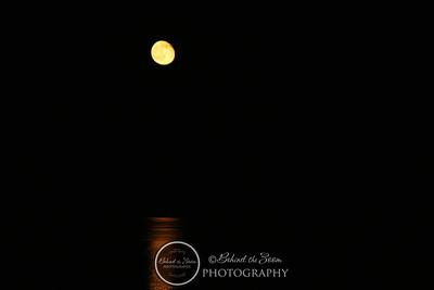 2008 October Moon over Roosevelt Lake AZ