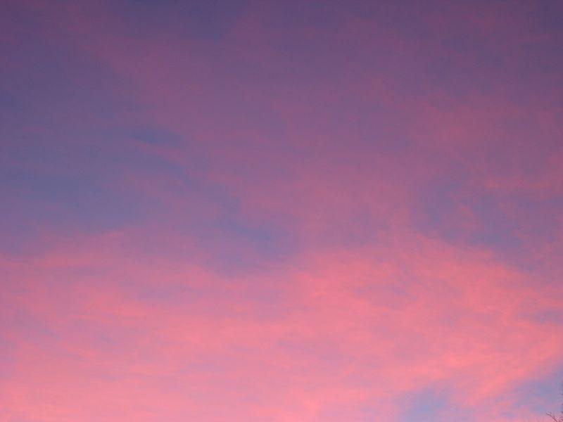 Sky 45m before sundown, Nov, Boone, NC