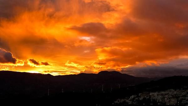 Christmas day sunset 2012