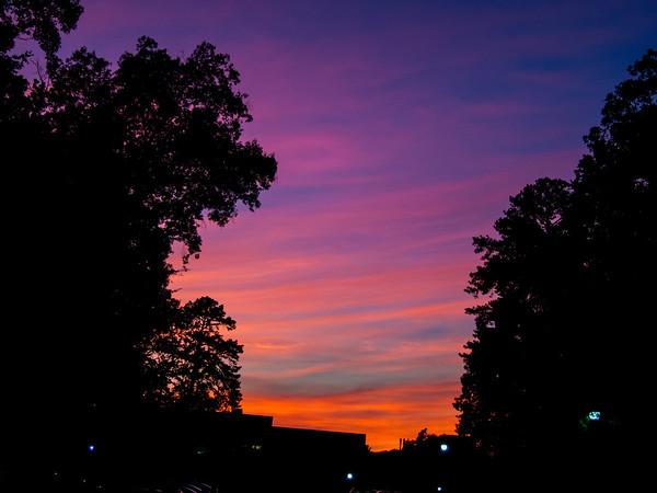 00aFavorite 20160710 (2052) Setting sun over Duke University, Durham, NC
