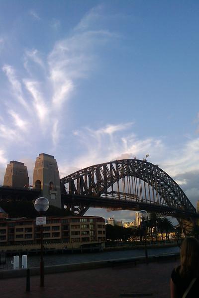 sky over sydney harbour bridge
