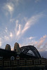 sky over sydney harbour bridge