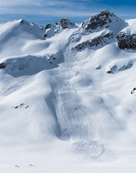 Full path of avalanche