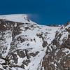 Spindrift - high winds at ridge tops