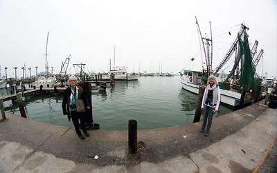 Carol and Sheryl at the Fulton dock at dawn