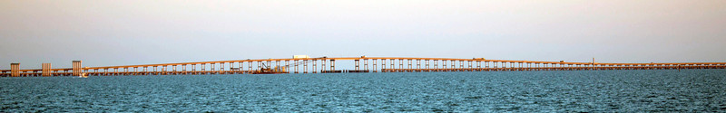 The Copano Bay Causeway.  Two Miles in length.
