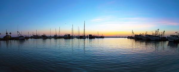 Fulton Harbor at dawn.
