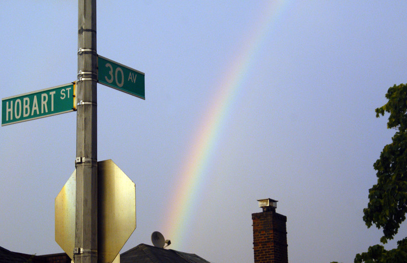 Home sweet home, at the end of the rainbow.
