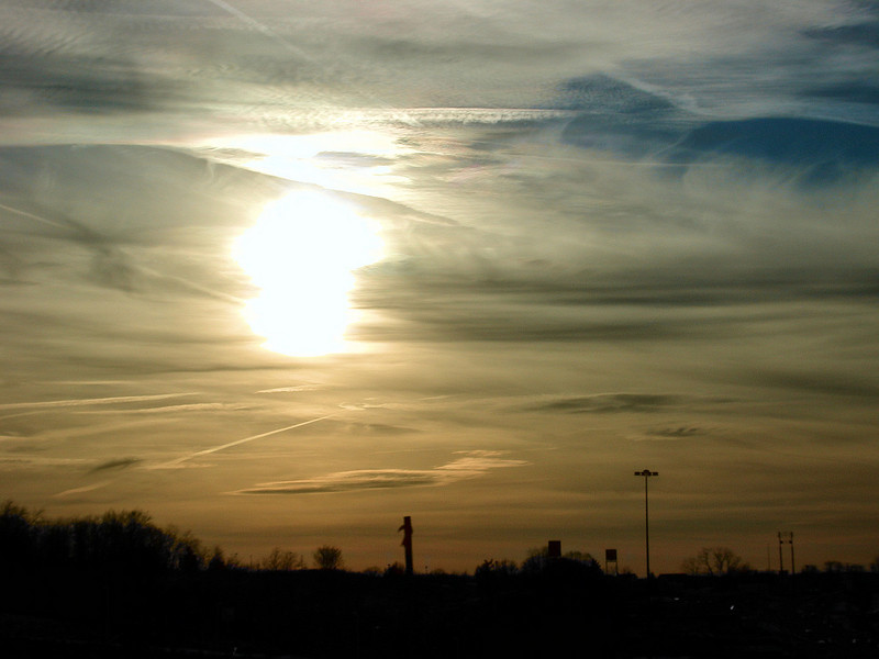 ... almost appears to be a double sun. Washington PA - Jan 4 2008