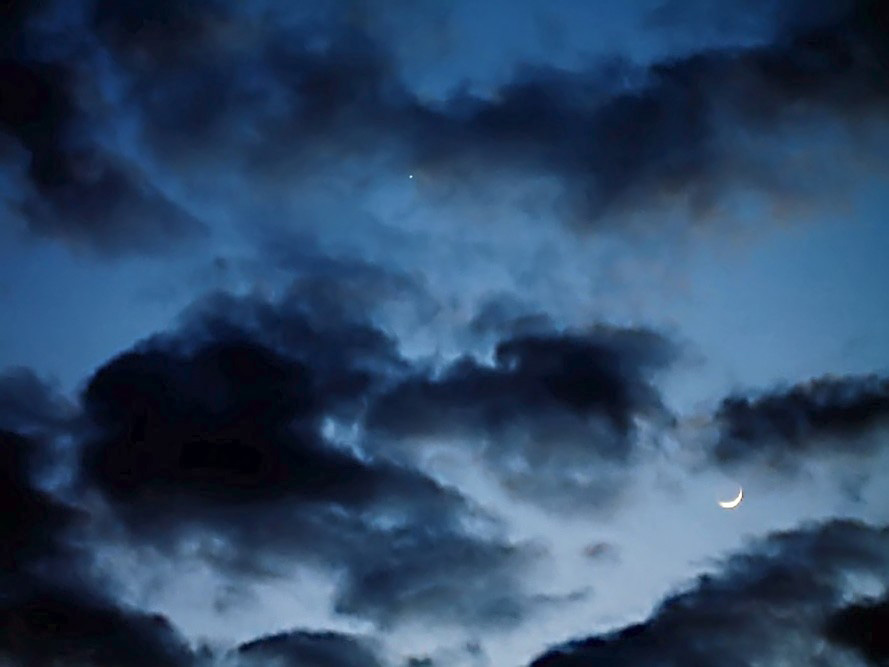 Venus and the Moon - 5-18-07 as imaged by Paul Campbell - Washington PA.